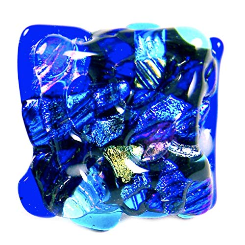 (Custom Made Abstract Mosaic Dichroic Glass Knobs - Cabinet or Drawer Pull Handle - 1