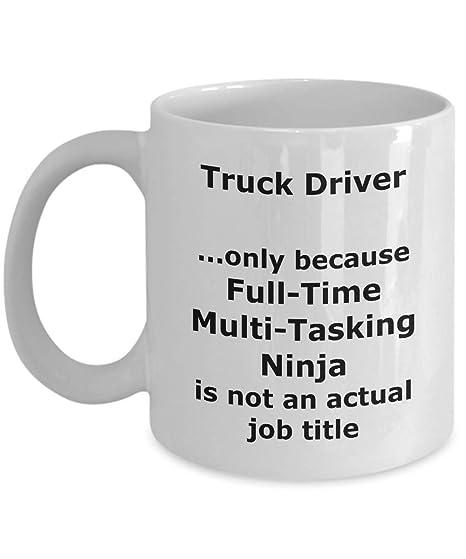 Amazon.com: Ninja Truck Driver Funny Gift Mug: Kitchen & Dining