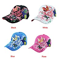 Baseball Hat,Haoricu 2017 New Women Embroidered Baseball Cap Summer Style Lady Fashion Hats