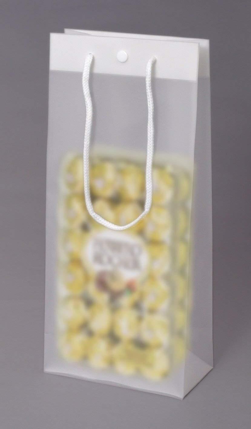 10 x Tragetasche Frost für 1 Flasche, Weintragetasche, Weinverpackung, Flaschentasche Weinkarton24.com