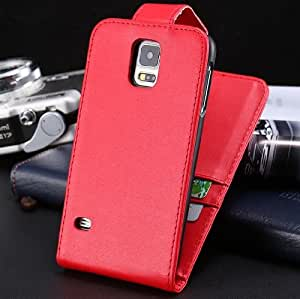 ModernGut New ! With Card Slots Retro Flip PU Leather Case for Samsung Galaxy S5 i9600 Open Up Down Mobile Phone Cover Bags YXF03818