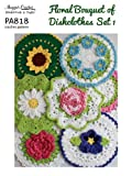 Floral Bouquet of Dishcloths Set 1 Crochet Pattern