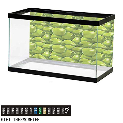 (bybyhome Fish Tank Backdrop Apple,Granny Smith Harvest,Aquarium Background,72