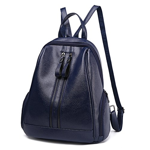 Handbag Backpack Travel Fashion Shoresu Blue Pink Zipper Schoolbags Rucksack Bag Women Shoulder ZOxqzw