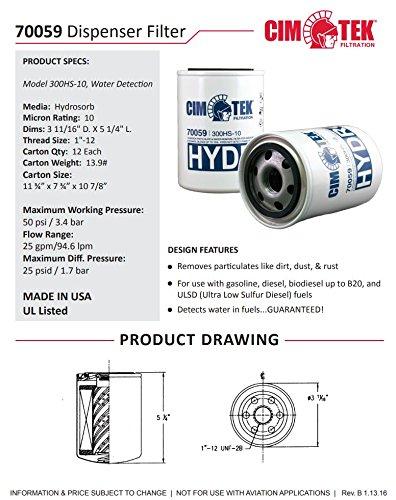 Cim-Tek 70059-12 300HS-10 Spin-On Filter for Water Detection 12-Pack by Cim-Tek (Image #1)