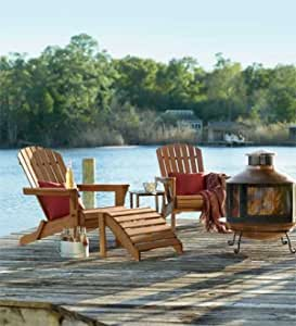 Hardwood All-Weather Adirondack Side Table in Natural