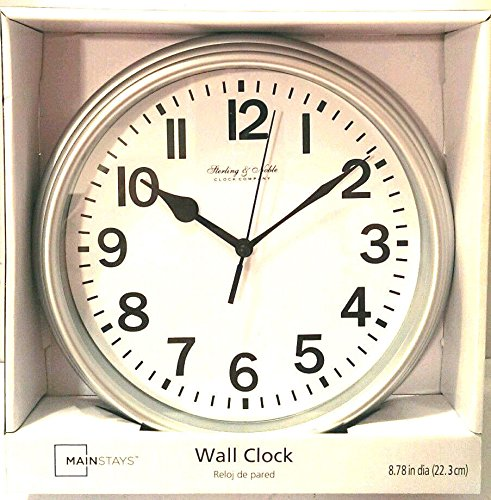 (Sterling & Noble Wall Clock - Silver)