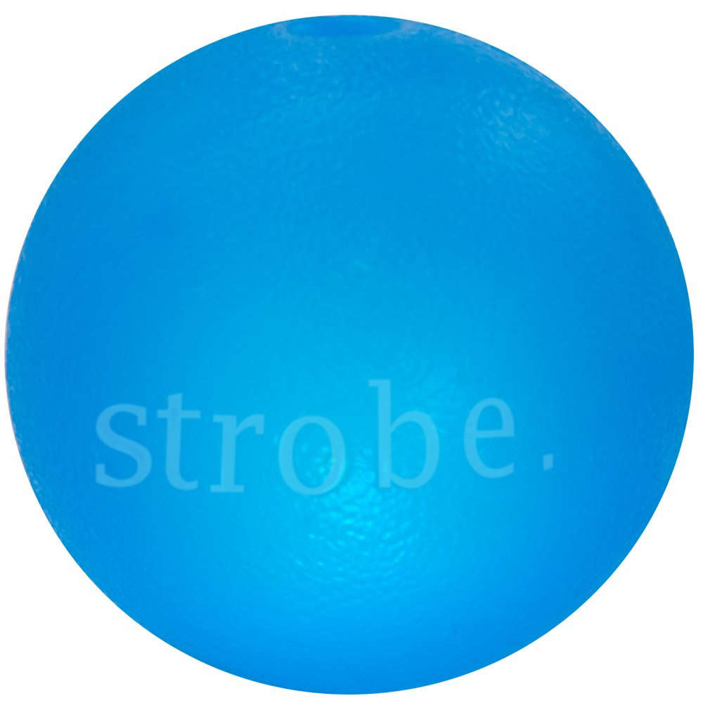 bluee Planet Dog Orbee-Tuff Strobe, New Interactive Blinking LED Light Up Durable Dog Ball, 100% Guaranteed, Made in The USA, 3-inch, bluee and Glow (bluee)