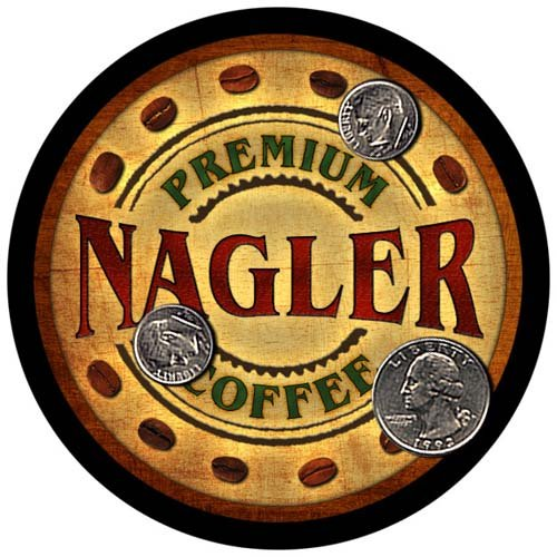 Nagler Family Name Coffee Rubber Drink Coasters - 4, used for sale  Delivered anywhere in USA