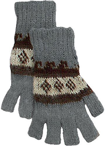 Alpaca Fingerless Gloves - Gray