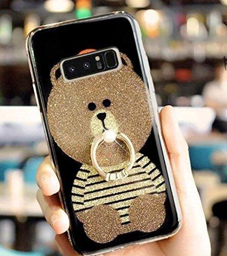 Samsung Galaxy S8 Plus Case Bling Diamond,Auroralove Galaxy S8 Plus Cover Glitter Cute Bear Luxury Soft TPU Samsung S8 Plus Case with Ring Stand for Girls Women(Strip)