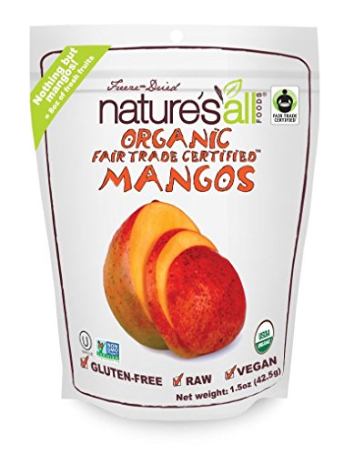 Natierra, Nature's All Foods Freeze-Dried Mangos, 1.5 Ounce (Nature All Foods)