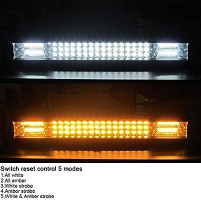 Willpower 12 inch 180W Strobe Flash LED Light Bar White Amber Flash Triple Row 4000 LM Flood Spot Combo Led Bar Off Road Auto Driving Lights