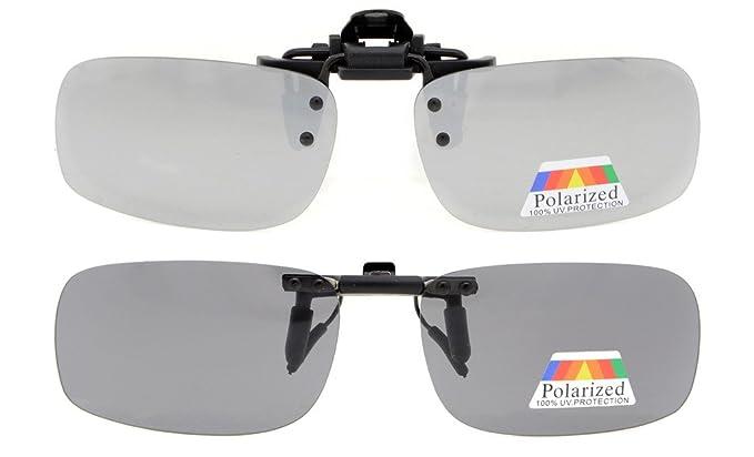 619f4f76224 Eyekepper Flip-up Clip-on Sunglasses Polarized 53x33 MM 2-Pack Metal Glasses
