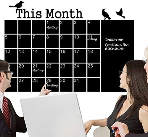 Monats-Wandaufkleber, Kreidetafel, Wandtafel, Kalender, Memo, Basteln