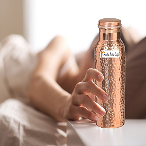900ml / 30oz – Set of 12 - Prisha India Craft Pure Copper Water Bottle Ayurveda Health Benefits - Best Quality Water Bottles Joint Free, Handmade Christmas Gift by Prisha India Craft (Image #4)'