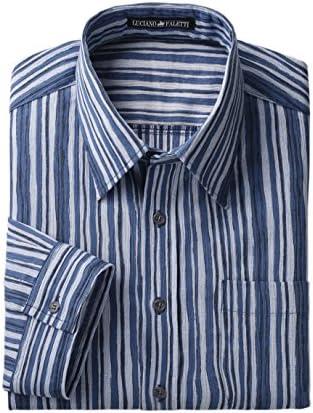 高島ちぢみ メンズ 七分袖シャツ