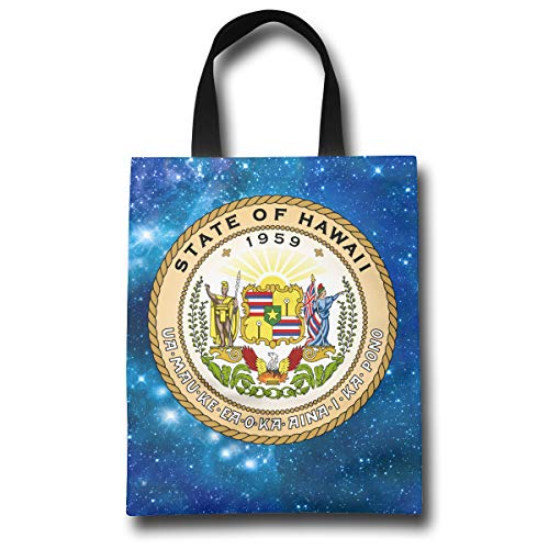 - Lqzdqa Seal of The State of Hawaii Fashion Reusable Shopping Bags Eco Friendly Durable Reticule