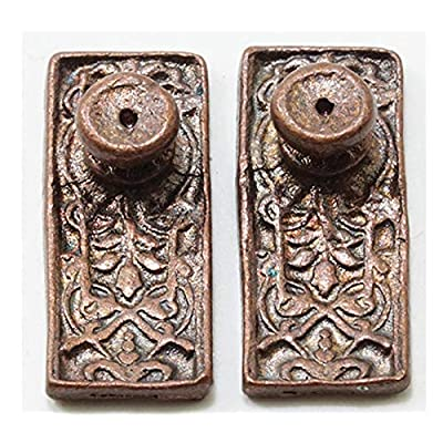 Dollhouse Miniature 1:12 Ornate Door Knobs in Oil Rubbed Bronze Finish: Toys & Games [5Bkhe0800562]