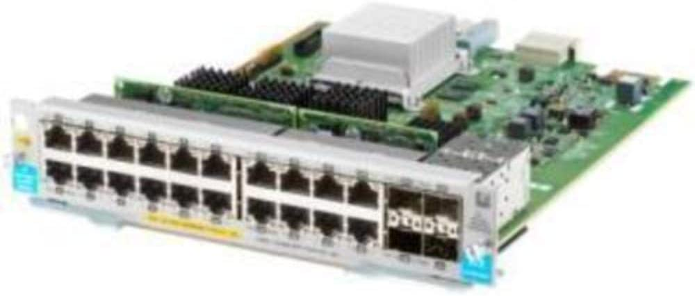 HP J9990AHP 20-Port 10/100/1000BASE-T PoE+ / 4-Port 1G/10GbE SFP+ MACsec v3 zl2 Module