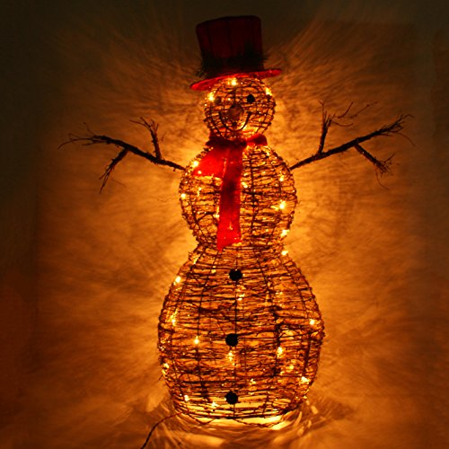 Lighted Snowman Outdoor Christmas Decoration - 9