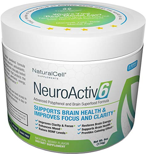 NeuroActiv6 Reds Superfood Powder & Brain Energy Drink: Polyphenols + Nootropics – Raises BDNF Levels • Enhances Mood, Focus, Clarity • Reduces Anxiousness, Fatigue, Brain Fog • Supports Brain Health For Sale