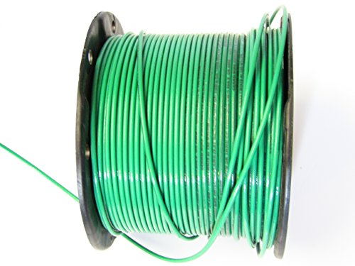 TEN (10) Feet of Stranded Green UL 12 Gauge (AWG) 600 Volt, 20 AMP THHN & THWN Electrical Colored PVC Insulated with Nylon Coating Single Conductor, Oil and Gas Resistant