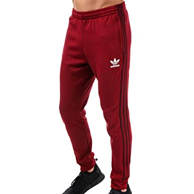 4173c0be709ac adidas Originals Mens Superstar Mesh Track Pants in Burgundy