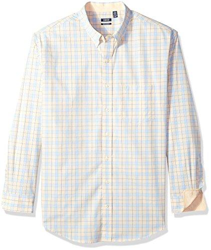 IZOD Men's IZOD Men's Premium Performance Natural Stretch Check Long Sleeve Shirt (Big & Tall and Tall Slim)