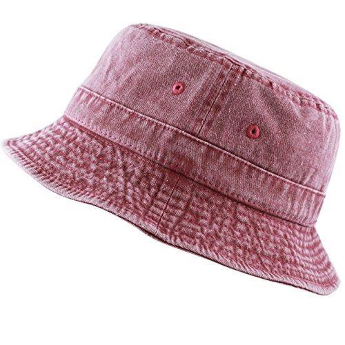 6ebc9e547 THE HAT DEPOT 300N 100% Cotton Packable Pigment Washed Cotton Bucket Hat