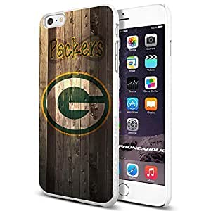 NFL Green Bay Packers , , Cool iPhone 6 Plus (6+ , 5.5 Inch) Smartphone Case Cover Collector iphone TPU Rubber Case White [By PhoneAholic]