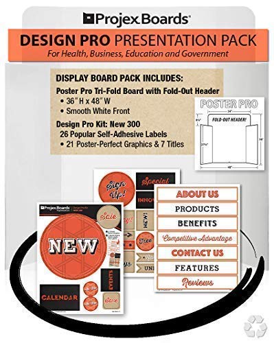 (Poster Pro, Trifold Display Board Kit; 36