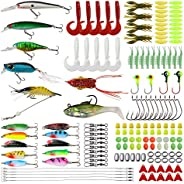 156pcs Fishing Lures Mixed Crankbaits Spoon Worms Lure Jigs Fishing Hooks Lead Fish Stainless Steel Wire Leade