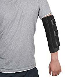 fibee Adult Elbow Immobilizer Stabilizer, Adjustable Compression Elbow Support Brace Splint for Women and Men for Night…