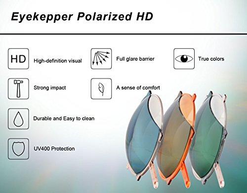 de soleil Lunettes lunettes titane Lens 2018 cadre Eyekepper Grey sans monture en polarisées 0XdYX8wq
