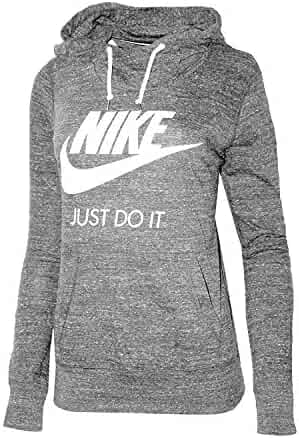 c12dc8422 Nike Womens Gym Vintage Pullover Hoodie Carbon Heather/Sail 823701 091