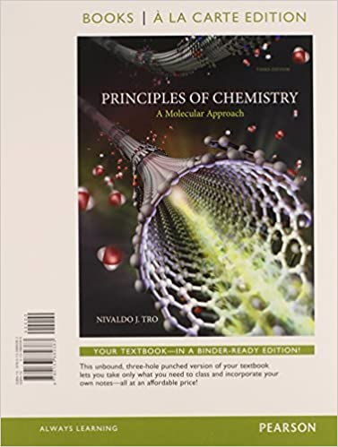 A Molecular Approach 3rd Edition Principles of Chemistry Books a la Carte Edition