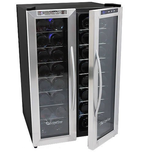 Edgestar 32 Bottle Dual Zone Wine Cooler With Stainless