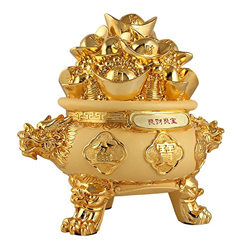 Feng shui symbols of good fortune can be hung in various parts of the house or the office as ways to fix love life, improve career opportunities and promote good health. Wenmily Feng Shui Golden Ingot/Yuan Bao Treasure Basin Wealth Porsperity Figurine, Best Housewarming Congratulatory Gift,Feng Shui Decor. #fengshui