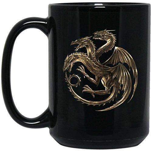 Game Of Thrones Coffee Mug   House Targaryen Gold Dragon Mug