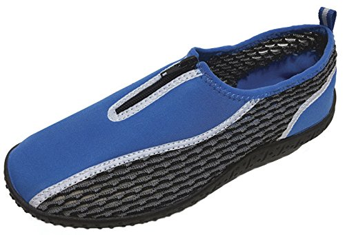 Cambridge Select Womens Slip-on Closed Toe Quick Dry Mesh Zipper Non-Slip Water Shoe Blue INrce