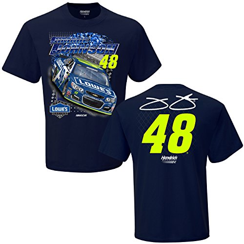 NASCAR Adult Spoiler 2 Spot Racing T-Shirt (#48 Jimmie Johnson, (Driver Short Sleeve T-shirt)