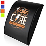 Power Core Ab Exercise Mat - Abdominal Trainer Mats For CrossFit, Sit Up Routines And Six Pack Workouts (Orange)