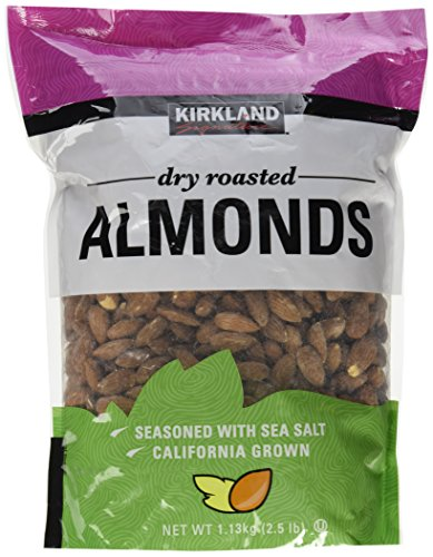 Kirkland Dry Roasted Almonds Net wt 1.13kg(2.5 lb)