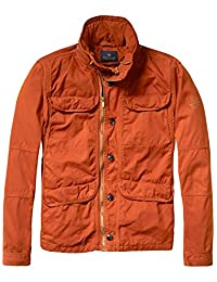 Scotch & Soda Men's Safari Field Jacket, Burnt Orange, Small