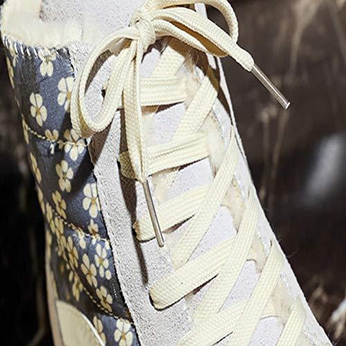 A Deportes Zapatos Nieve Botas Los Moda Invierno Otoño Damas Casual De Cálido 1PxUawaRq
