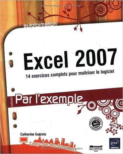 Lire en ligne Excel 2007 pdf, epub
