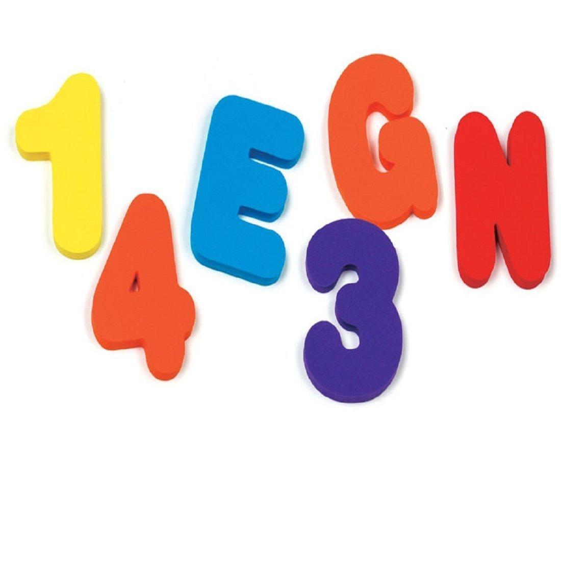 5Five N/úmeros de ni/ños y Letras de ingl/és rompecabezas de ba/ño reconocimiento leer y escribir juguetes