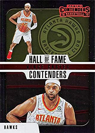 4b091c286 2018-19 Panini Contenders Hall of Fame Contenders Basketball  17 Vince  Carter Atlanta Hawks