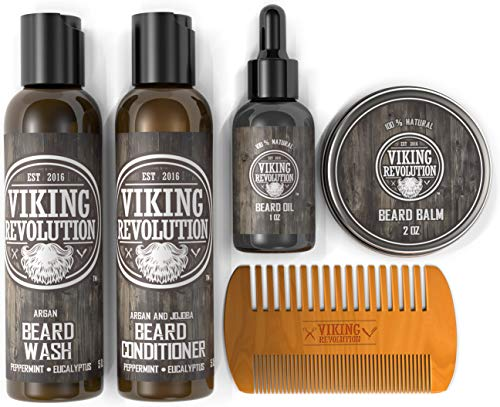 Ultimate Beard Care Conditioner Kit – Beard Grooming Kit for Men Softens, Smoothes and Soothes Beard Itch- Contains Beard Wash & Conditioner, Beard Oil, Beard Balm and Beard Comb- Classic Set